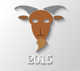 Illustration of a goat with year 2015