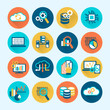 Database Analytics Icons Flat - 74004158