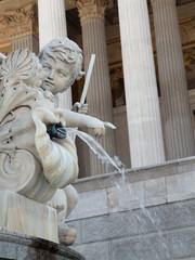 Detail des Pallas-Athene-Brunnen vor dem Wiener Parlament