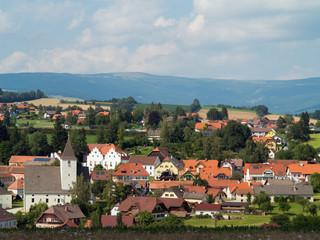 Blick auf die Marktgemeinde Vorau, Steiermark