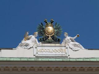Attika des Palais Pallavicini am Josefsplatz in Wien