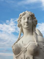 Skulptur einer Sphinx im Belvedere Wien