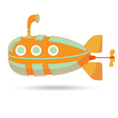 Submarine made in vector