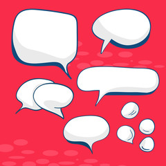 Decorative speech bubbles illustration