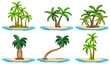 Islands and palm tree - 74007978
