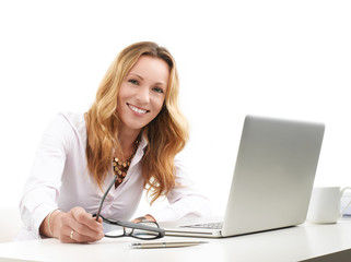 Executive business woman with laptop