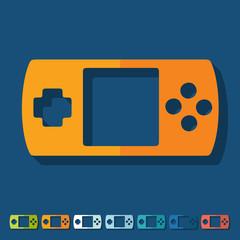 Flat design: joystick