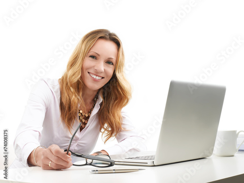 canvas print picture Executive business woman with laptop