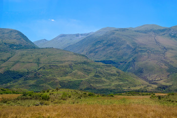 Landscape in Balkan hills
