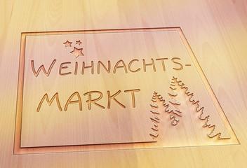 Weihnachtsmarkt Rahmen Tanne V