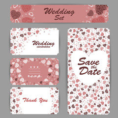 Wedding invitation, thank you card, save the date card