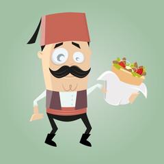 döner kebab türkisch servieren