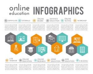 Online Education Infographics