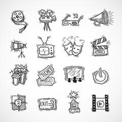 Cinema icons set