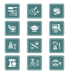 Cooking utensil icons || TEAL series