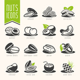 Fototapety Nuts icon set