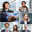 Group of multiethnic business people