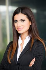 Smiling business woman portrait