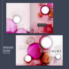 romantic half-fold brochure template design