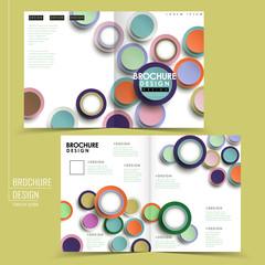 modern colorful half-fold brochure template design