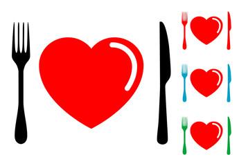 Pictograma comida sana con varios colores
