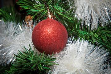 Christmas ornaments, bells, stars, balls