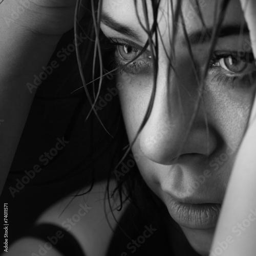 beauty girl cry - 74011571