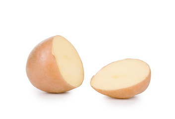 Potato on a white background