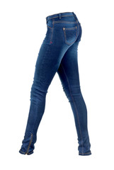 womans jeans in white background