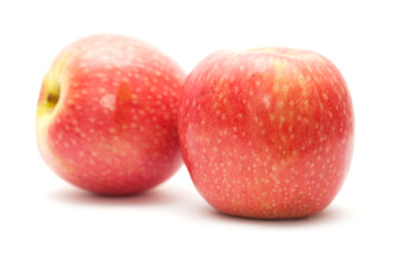 pink apples isolated