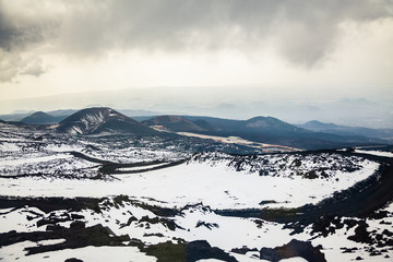 melancholy view from Etna, Sicily