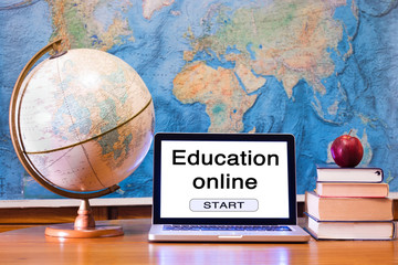 E-learning, education online concept