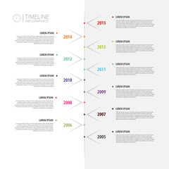 Colorful abstract timeline infographics. Vector illustration