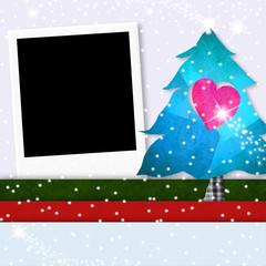 Christmas photo frame cute tree