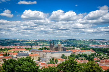 Praga widok na miasto