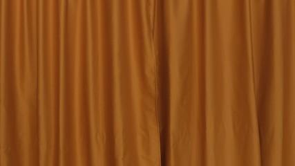 Background establishing shot curtain orange front