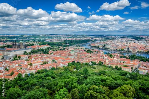 Aluminium Praag Praga widok na miasto