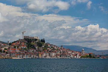 Sibenik, Croatia view from the sea