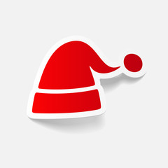 realistic design element: santa hat