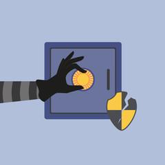 Hacking bank safe