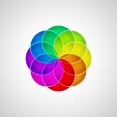 3d circle design element. Vector illustration