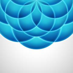 3d circle background. Vector illustration