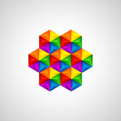 3d triangular background. Vector illustration