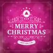 Zdjęcia na płótnie, fototapety, obrazy : merry christmas vintage curl violet  background