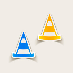 realistic design element: road cones