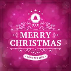 merry christmas vintage curl violet  background