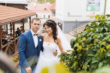Bride and groom. Wedding walk.