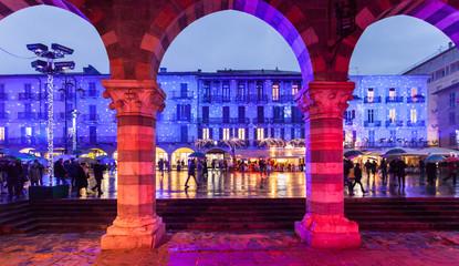 Piazza del Duomo di Como a Natale