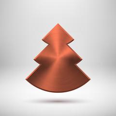 Bronze Abstract Christmas Tree