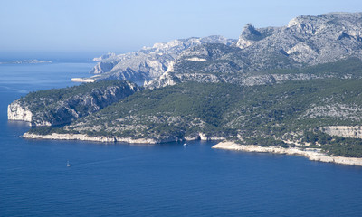 France. Landscape view of the Calanques National Park
